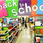 back to school supplies for sale in a store